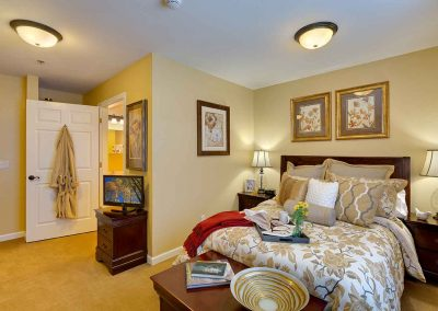 A furnished studio apartment at the Pinnacle of Oxford.
